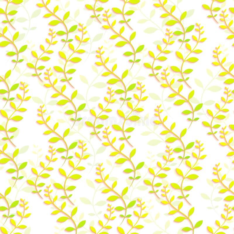 Kleurrijk bloemenbehang De naadloze textuur voor achtergronden en de pagina vullen Webontwerp Vector illustratie stock illustratie