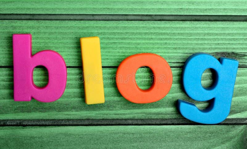 Kleurrijk blogwoord royalty-vrije stock afbeelding