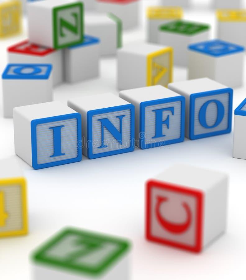 Kleurrijk blok - informatie vector illustratie