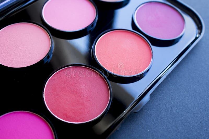 Kleurrijk bloos reeks Professionele schoonheidsmiddelen royalty-vrije stock foto's