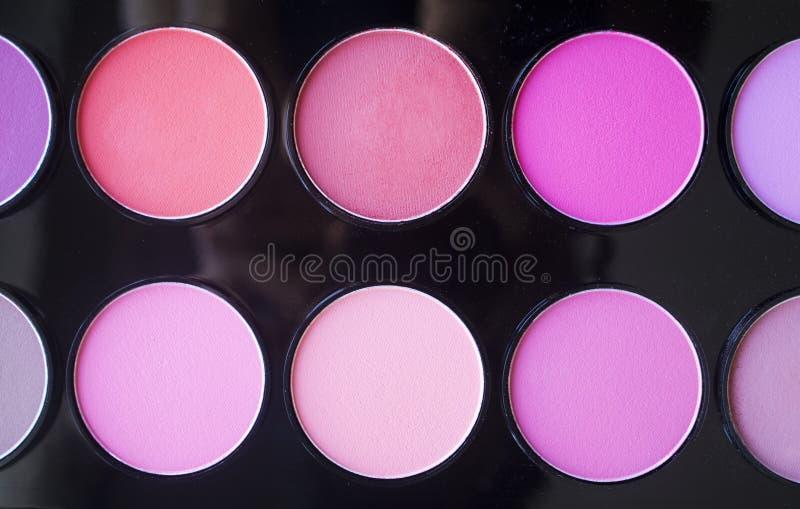 Kleurrijk bloos reeks Professionele schoonheidsmiddelen stock fotografie