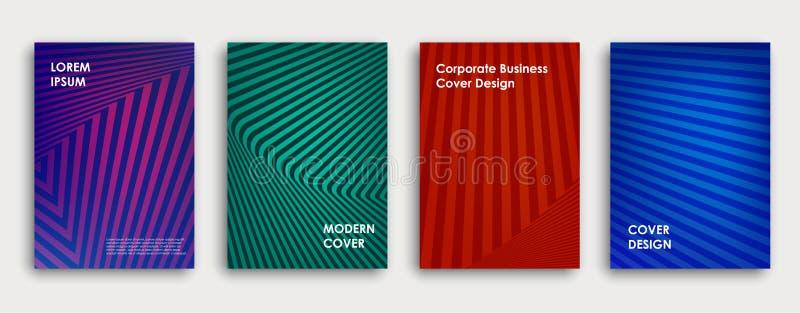 Kleurrijk boek of de collectieve ontwerpsjabloon van de brochuredekking royalty-vrije illustratie