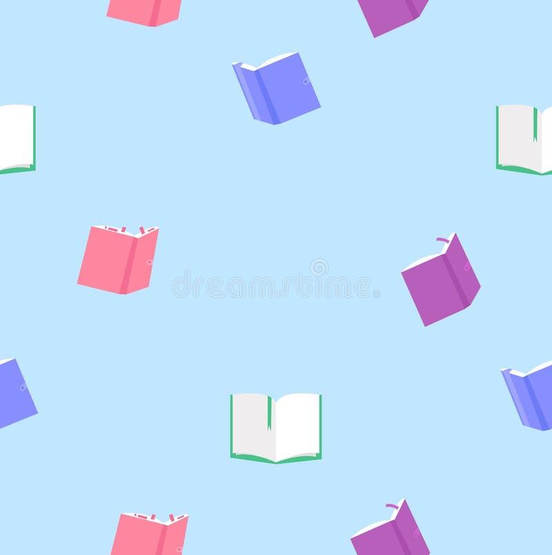 Kleurrijk boeken naadloos patroon stock illustratie