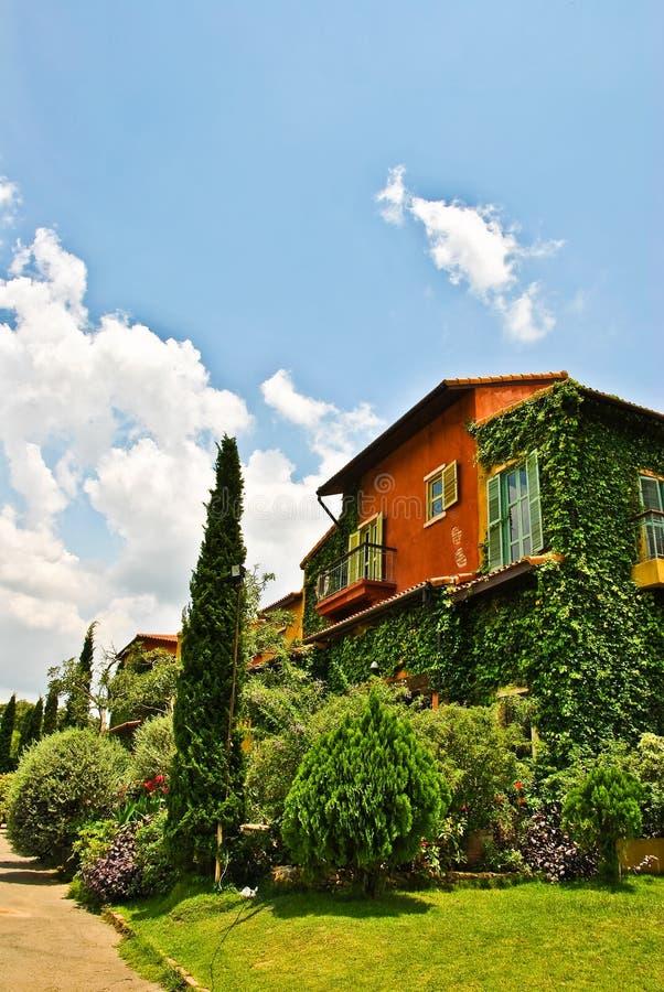 Kleurrijk boomhuis. stock fotografie