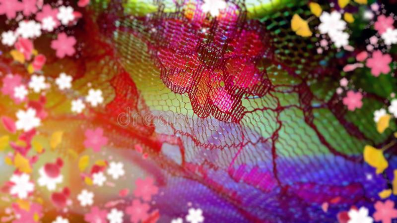 Kleurrijk Borduurwerk stock illustratie