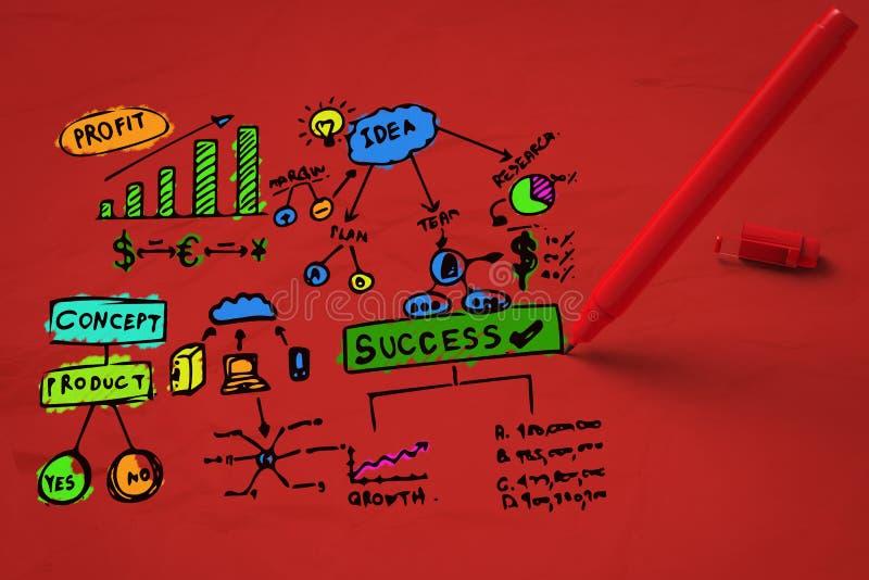 Kleurrijk businessplan stock afbeeldingen