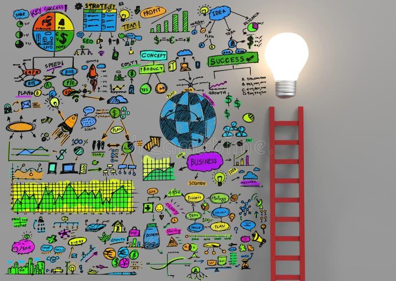 Kleurrijk businessplan stock fotografie