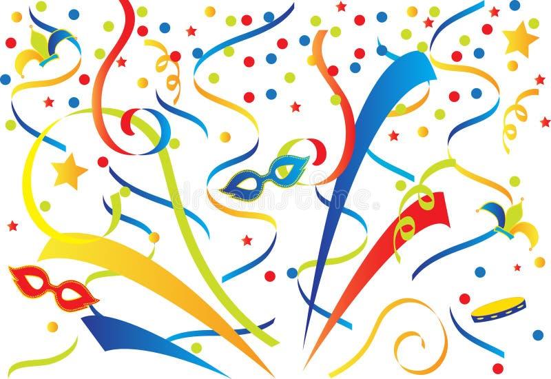 Kleurrijk Carnaval royalty-vrije illustratie