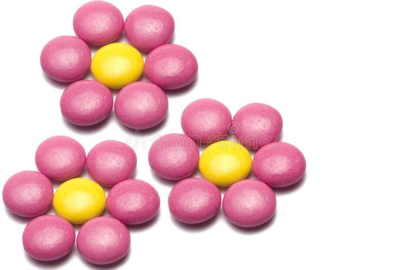 Kleurrijk chocoladesuikergoed stock afbeelding