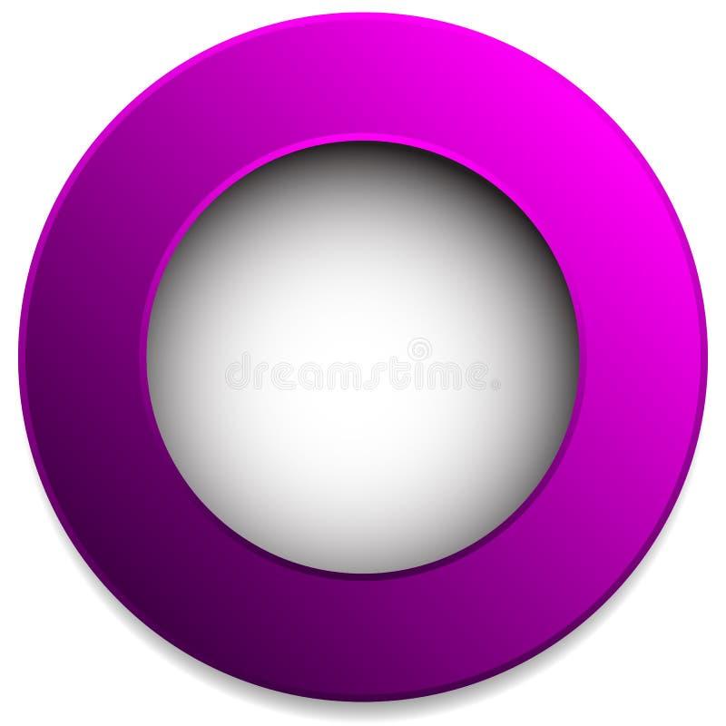 Kleurrijk cirkelkenteken, knoop, speld, etiketelement Lege spatie, royalty-vrije illustratie
