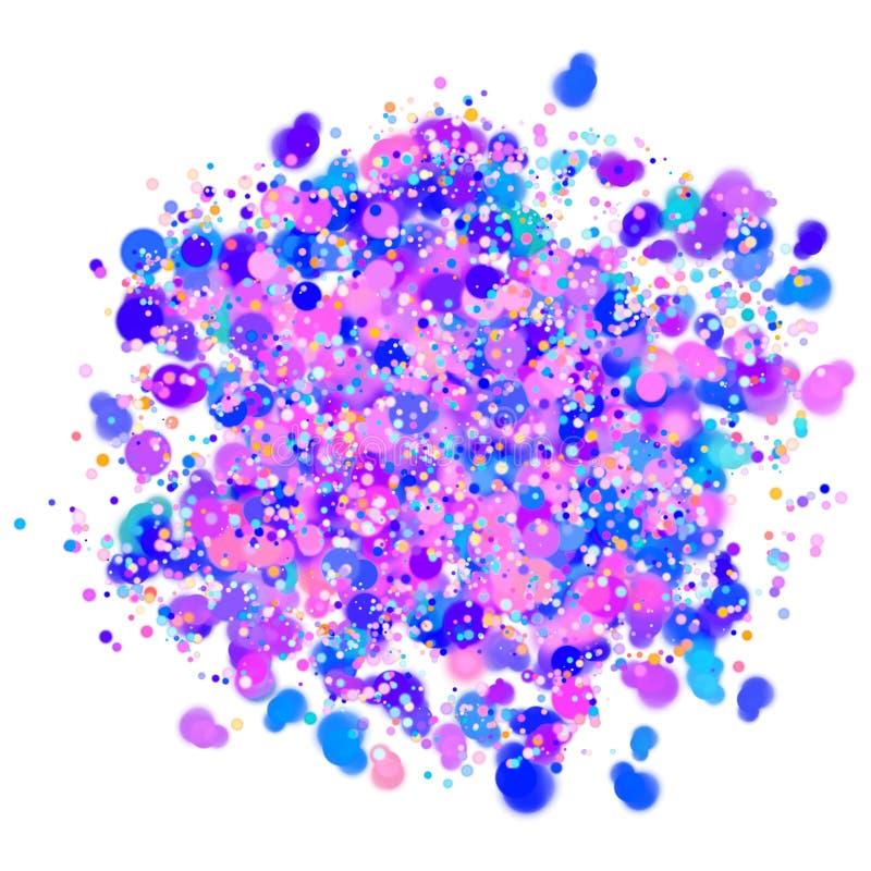 Kleurrijk confettienontwerp met transparante achtergrond royalty-vrije stock foto's