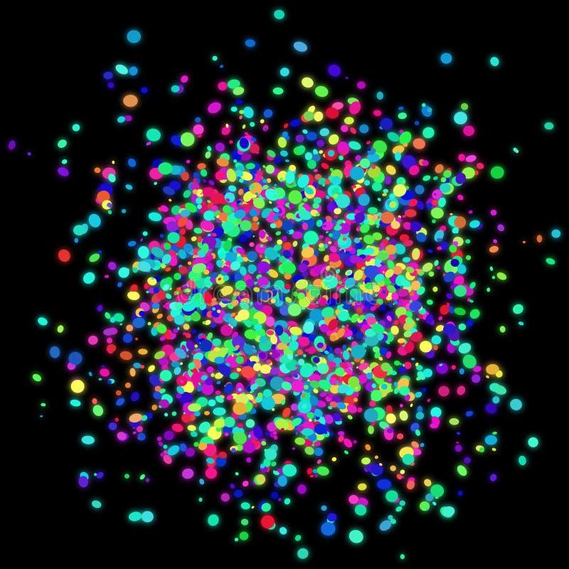 Kleurrijk confettienontwerp met transparante achtergrond royalty-vrije stock afbeeldingen