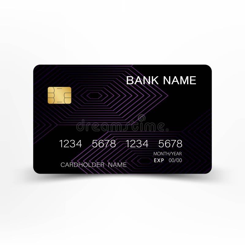 Kleurrijk creditcard vastgesteld ontwerp royalty-vrije illustratie