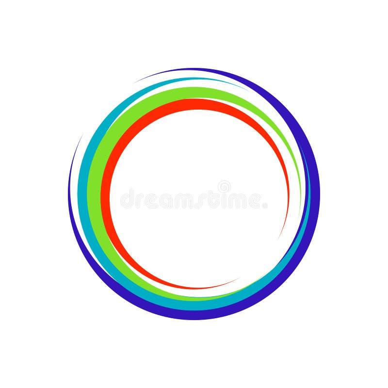 Kleurrijk Crescent Zen Symbol Logo Design royalty-vrije illustratie