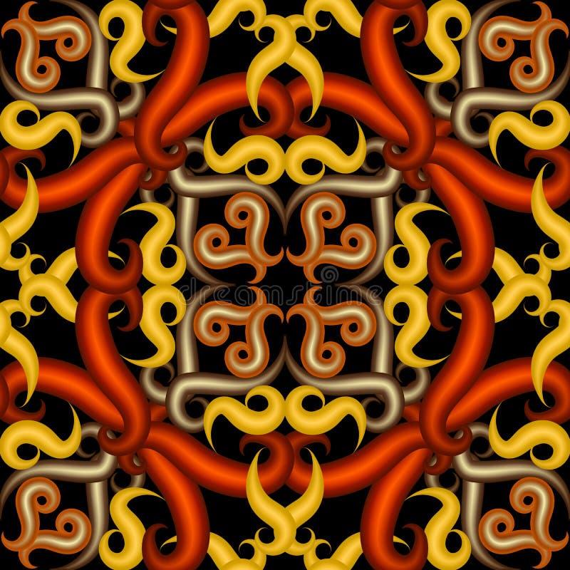 Kleurrijk 3d arabesque vector naadloos patroon Sier heldere Arabische achtergrond vector illustratie