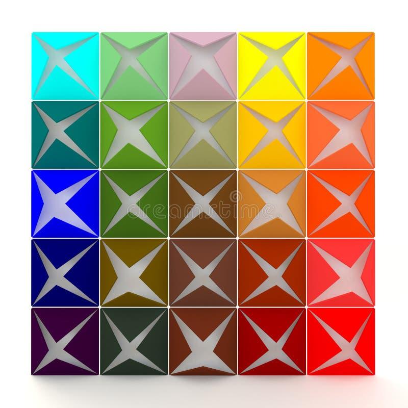 Kleurrijk 3D het openen document behang royalty-vrije illustratie