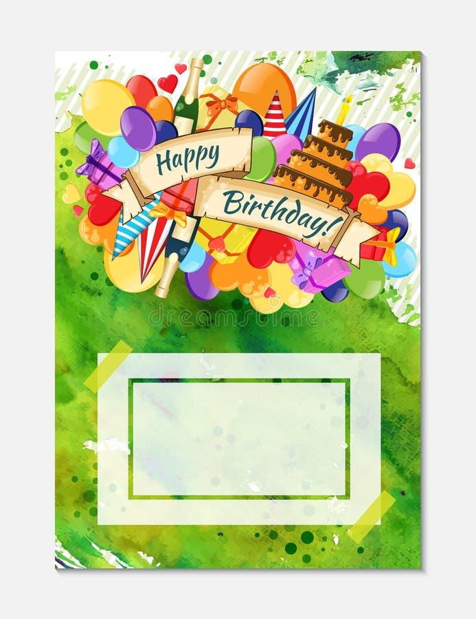 Kleurrijk de affichemalplaatje van de krabbelhand getrokken vakantie Kleurrijk vectorkunstwerk Collectief identiteitsontwerp Patr stock foto's
