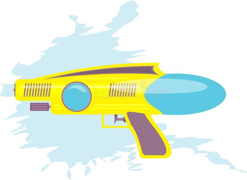 Kleurrijk de jonge geitjesstuk speelgoed van het waterkanon stock illustratie