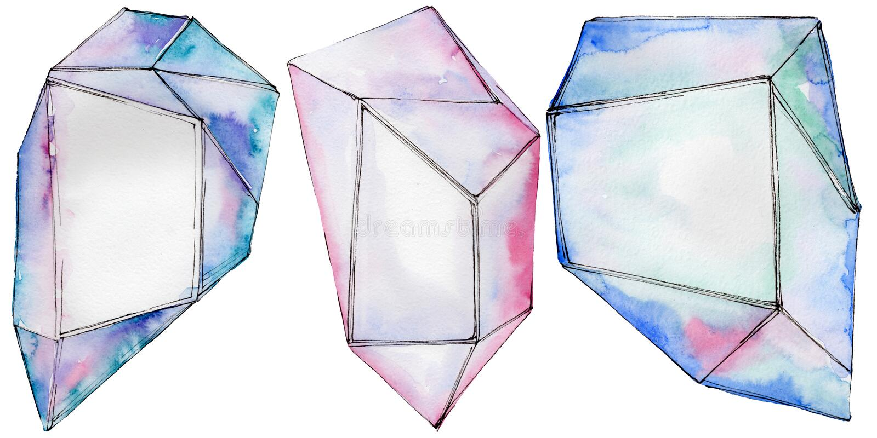 Download Kleurrijk De Juwelenmineraal Van De Diamantrots Stock Illustratie - Illustratie bestaande uit achtergrond, juwelen: 114228384