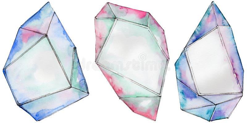 Download Kleurrijk De Juwelenmineraal Van De Diamantrots Stock Illustratie - Illustratie bestaande uit verf, close: 114228392