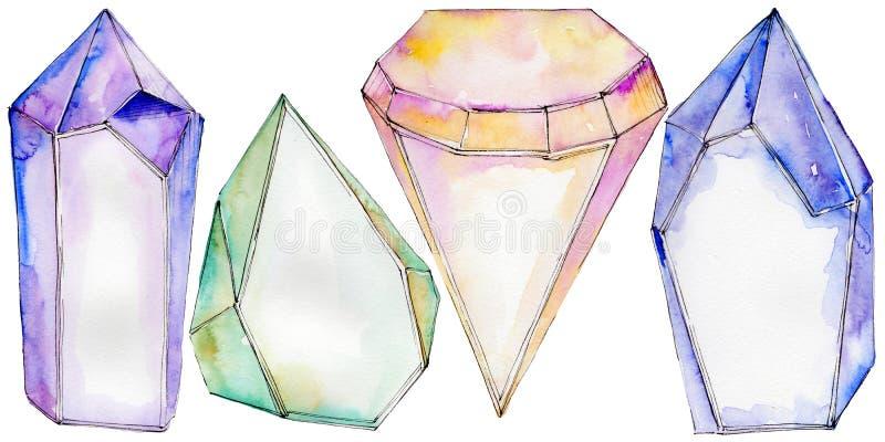 Download Kleurrijk De Juwelenmineraal Van De Diamantrots Stock Illustratie - Illustratie bestaande uit up, close: 114228394
