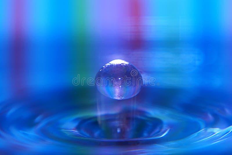 Kleurrijk de plons listig close-up van de Waterdaling stock afbeeldingen