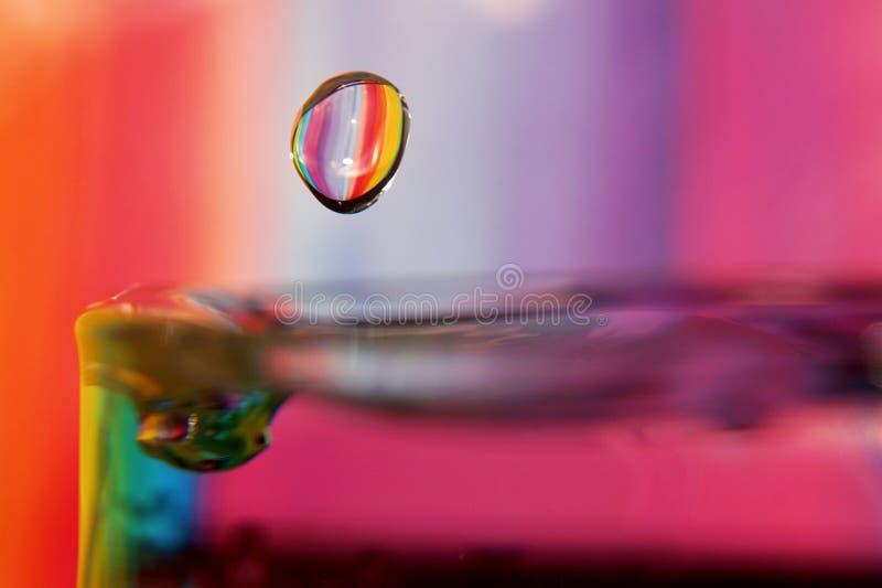 Kleurrijk de plons listig close-up van de Waterdaling royalty-vrije stock foto's