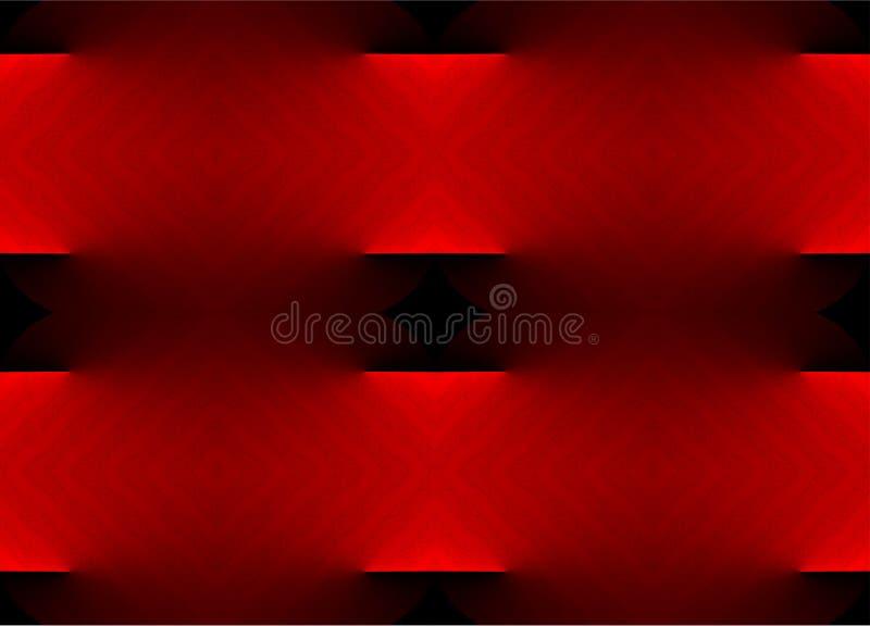 Kleurrijk, in de schaduw gesteld en 3 D met lichteffectcomputer produceerden achtergrondafbeeldingontwerp vector illustratie
