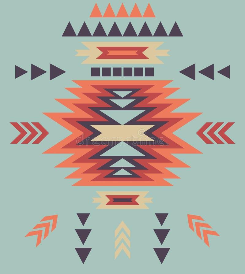 Kleurrijk decoratief etnisch patroon royalty-vrije illustratie