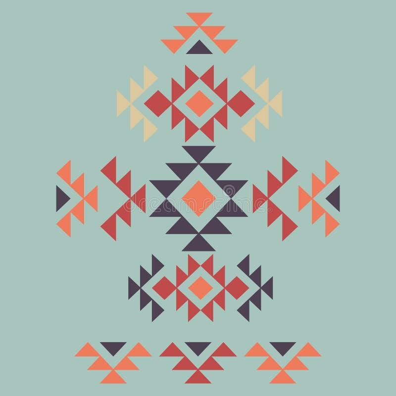 Kleurrijk decoratief etnisch patroon vector illustratie