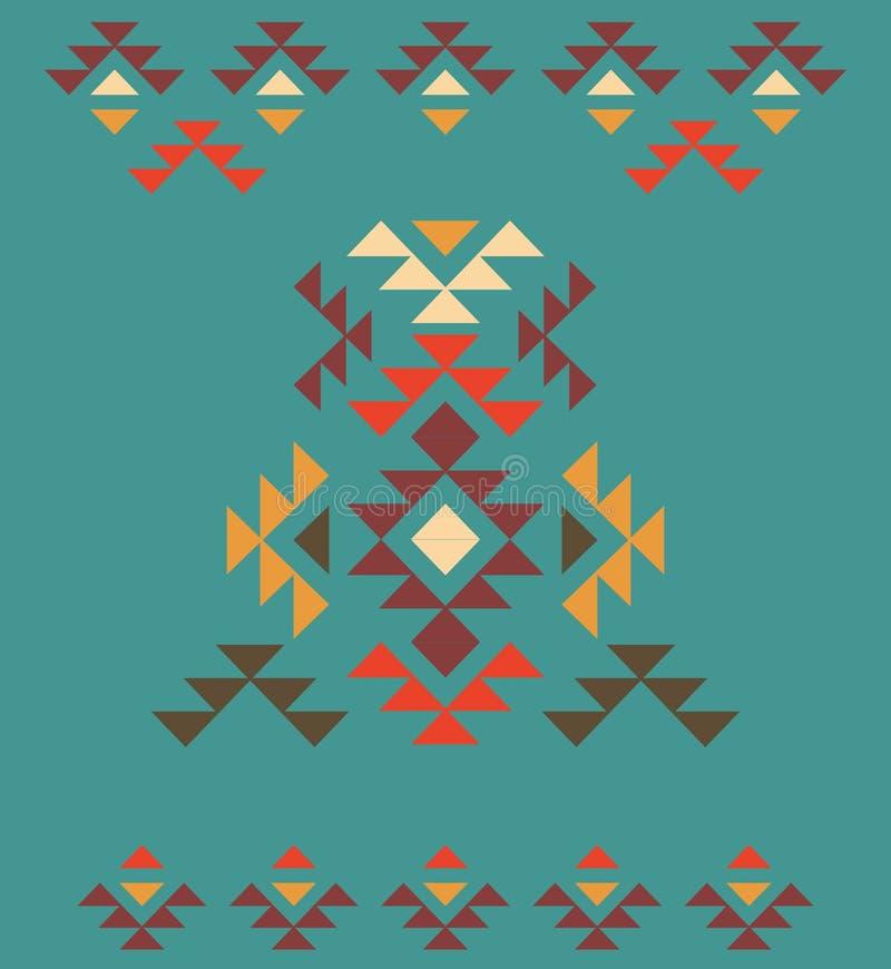Kleurrijk decoratief etnisch patroon stock illustratie