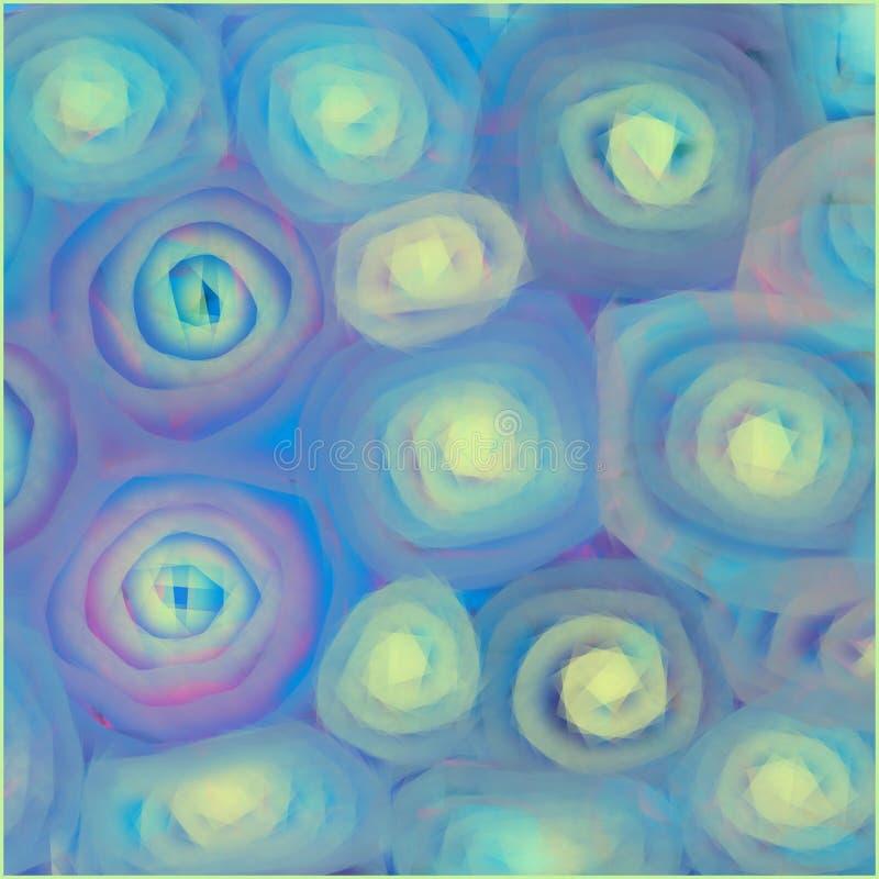 Kleurrijk decoratief ontwerp van lijnen en spiralen vector illustratie