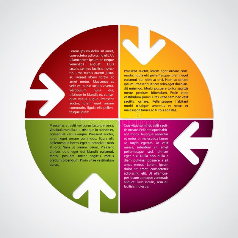 Kleurrijk diagram met pijlen royalty-vrije illustratie