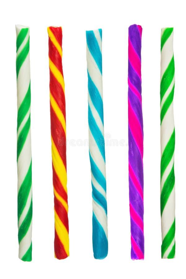 Kleurrijk die suikergoed op wit wordt geïsoleerd royalty-vrije stock fotografie