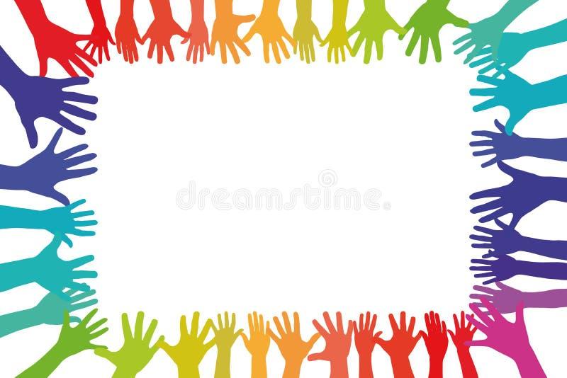 Kleurrijk dient een kader als achtergrond in stock illustratie