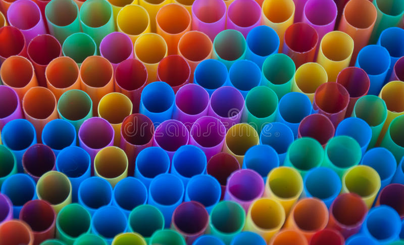 Kleurrijk drankstro stock afbeelding