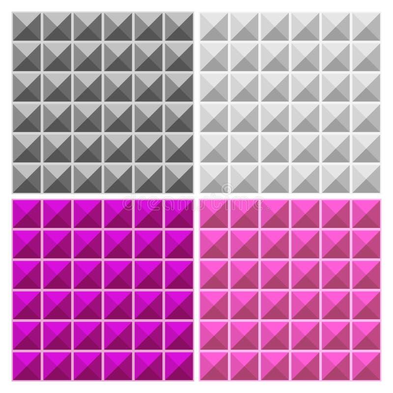 Kleurrijk Driehoeken Naadloos Patroon vector illustratie