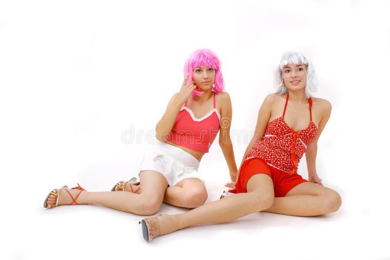 Kleurrijk Duo stock afbeelding