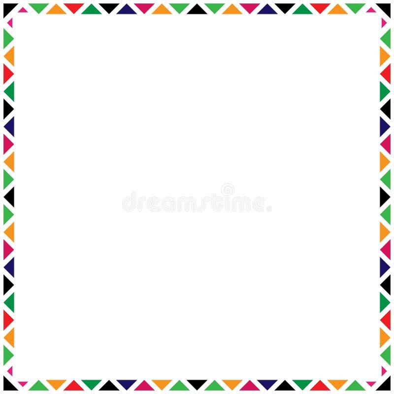 Kleurrijk eenvoudig decoratief kader met triangulars royalty-vrije illustratie