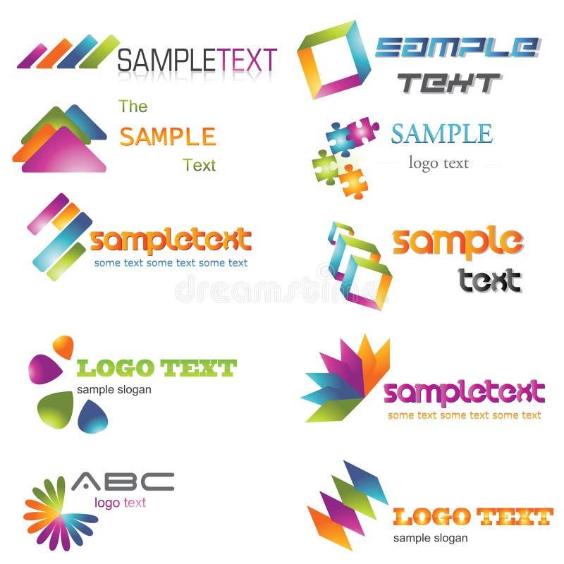 Kleurrijk Embleem vector illustratie