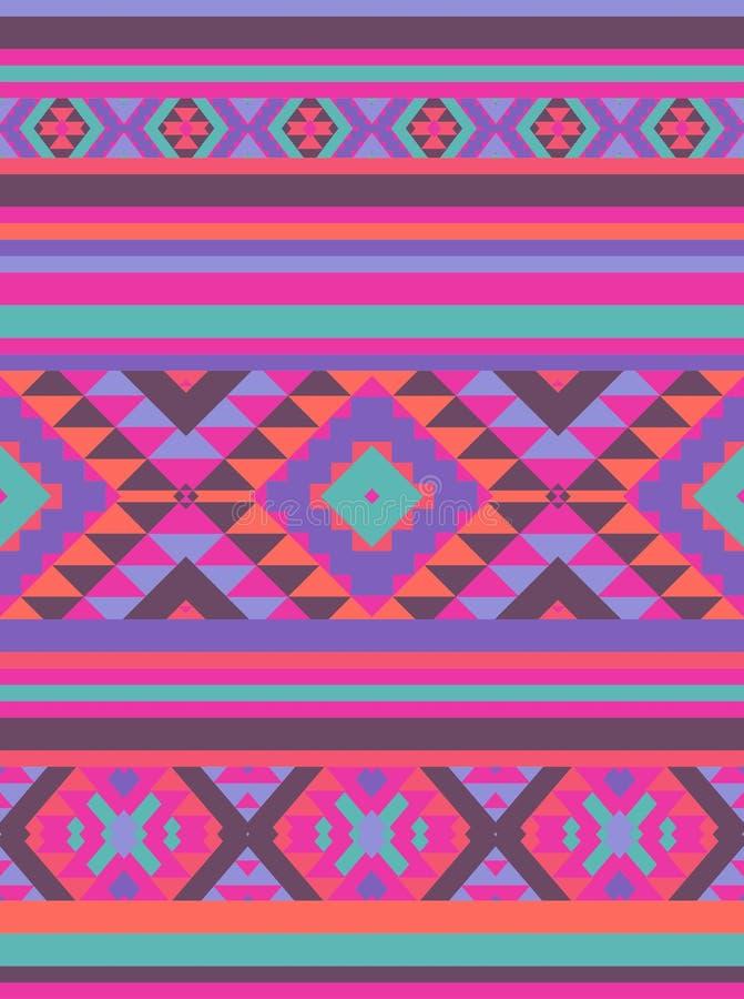 Kleurrijk etnisch patroon royalty-vrije illustratie