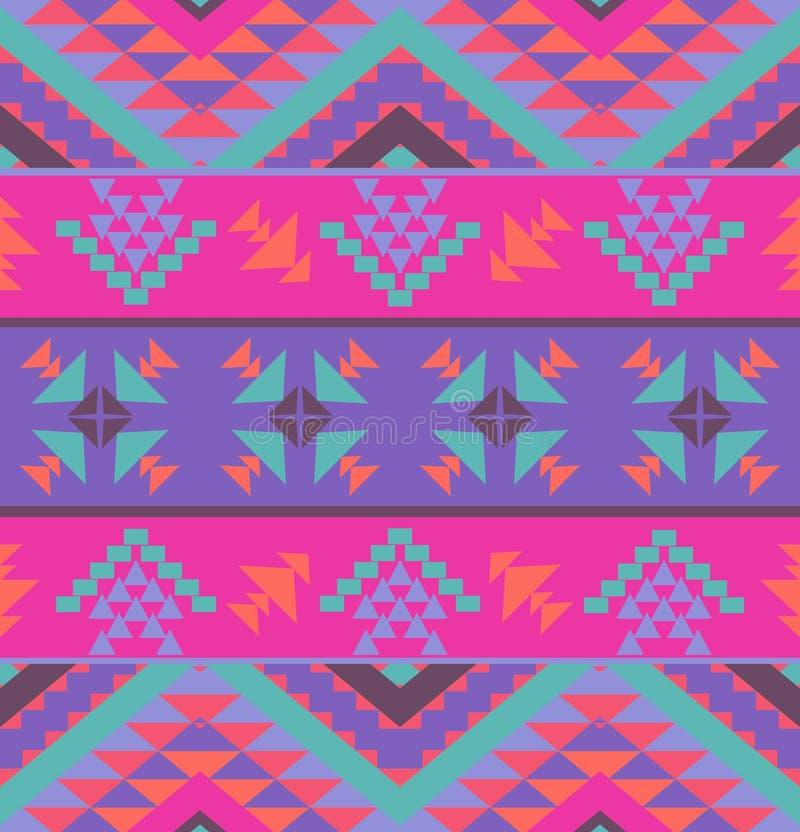 Kleurrijk etnisch patroon vector illustratie