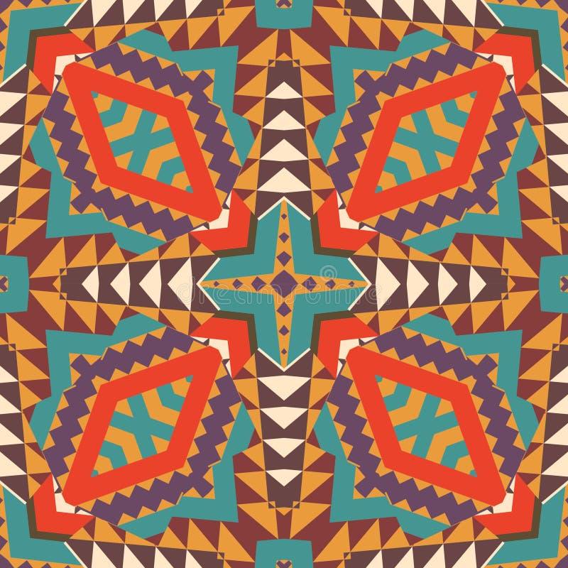 Kleurrijk etnisch patroon stock illustratie