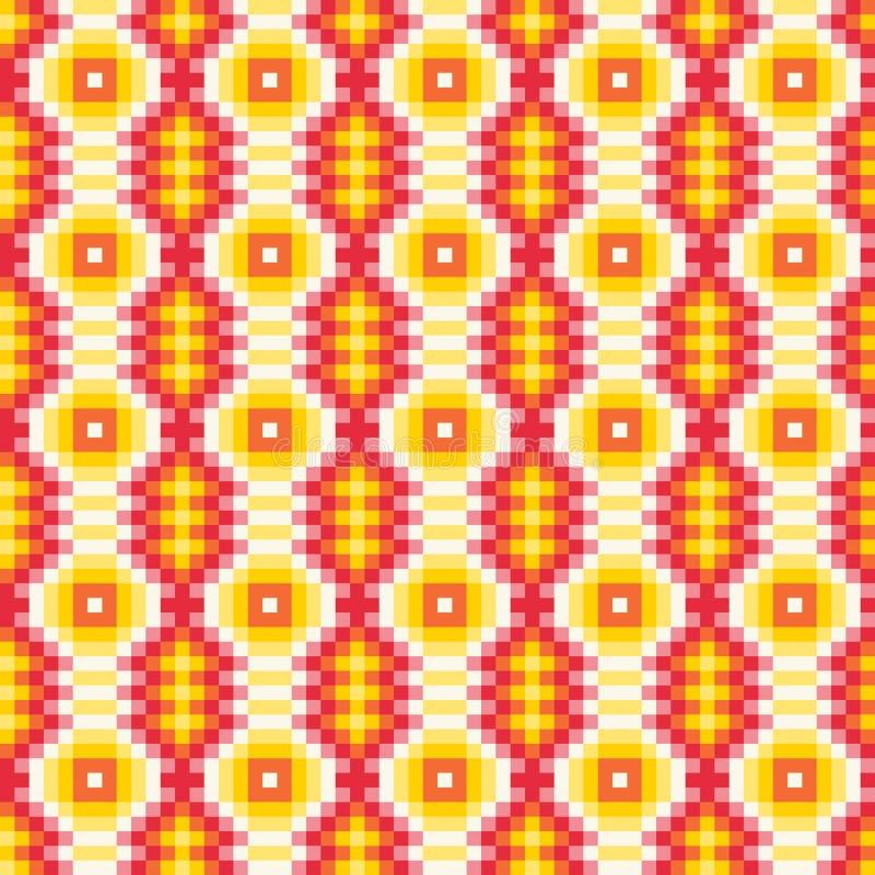 Kleurrijk etnisch sierpatronen Mexicaans, Naadloos vectorpatroon stock illustratie