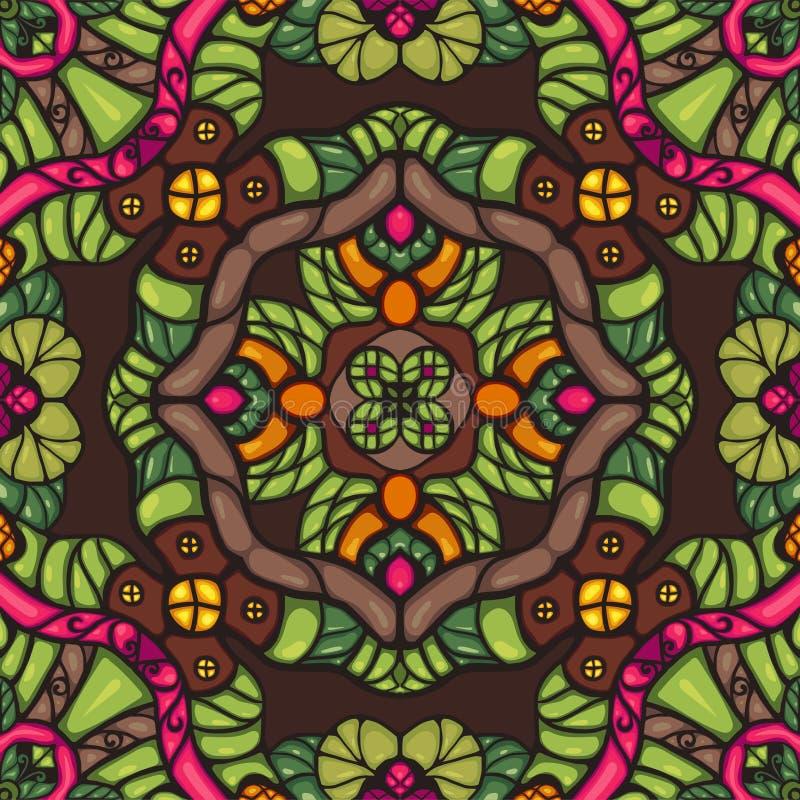 Kleurrijk fantasie naadloos vector sierpatroon vector illustratie