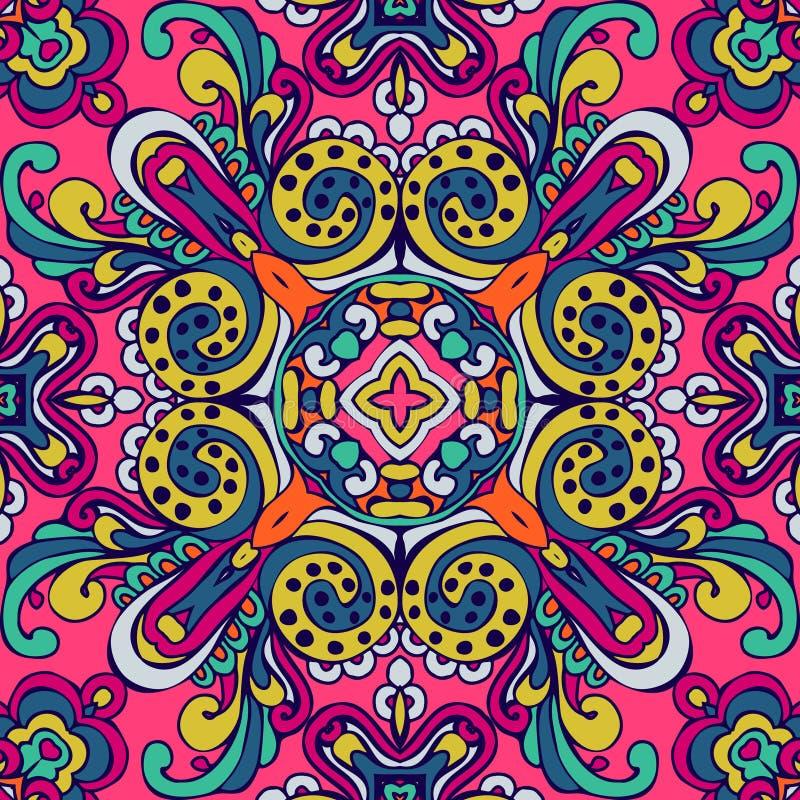 Kleurrijk Feestelijk Abstract Bloemen Vectorpatroon vector illustratie
