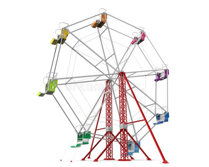 Kleurrijk Ferris Wheel royalty-vrije illustratie