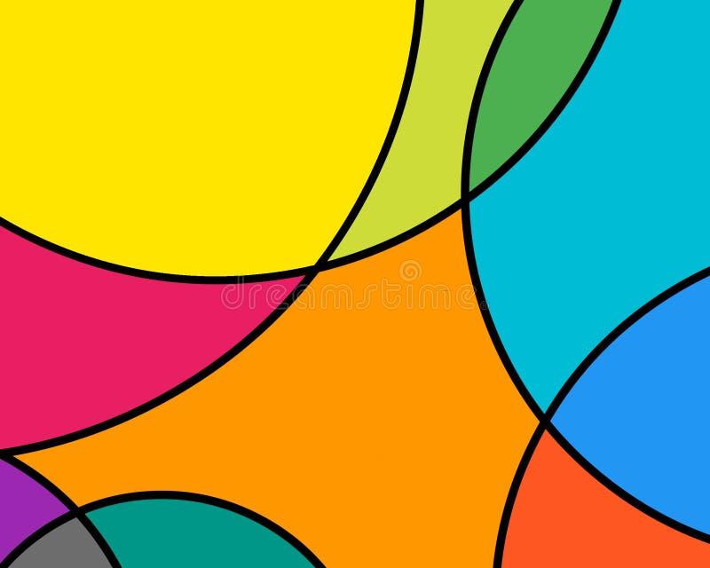 Kleurrijk gebrandschilderd glas stock foto's