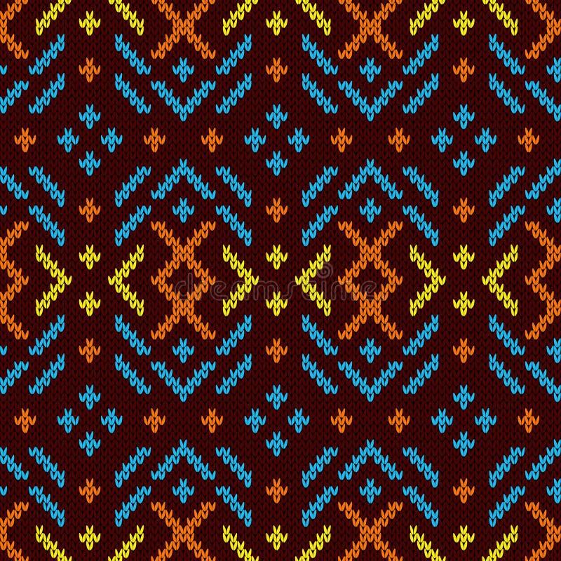 Kleurrijk gebreid naadloos patroon vector illustratie