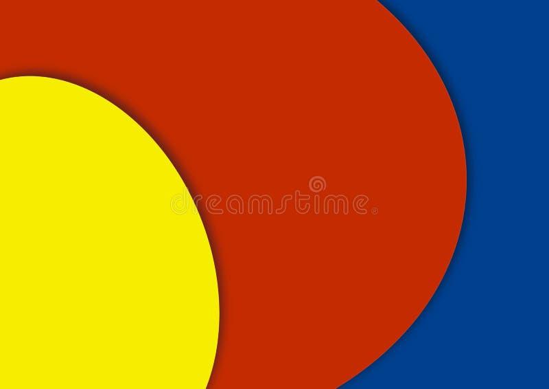 Kleurrijk geel rood blauw als achtergrond stock afbeelding